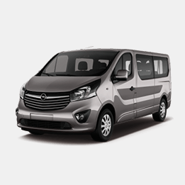 Opel vivaro avec chauffeur / 8 places